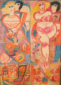 Peinture d'Aloïse / Musée d'Art Brut à Lausanne